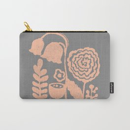 Grow in Papaya Carry-All Pouch