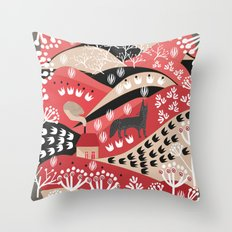 Wolf's Promise Land Throw Pillow