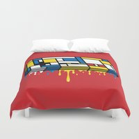 gaming Duvet Covers featuring The Art of Gaming by Mike Handy Art