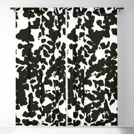 White Black Blackout Curtain