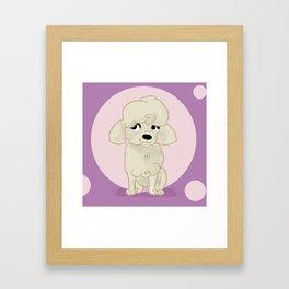 poodle Framed Art Print