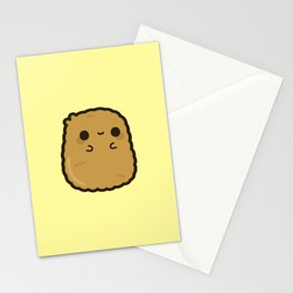 Cute chicken nugget Stationery Cards