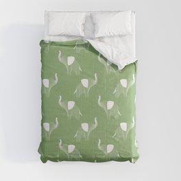 Elephant Pattern II in Mint Green  Comforters