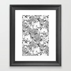 just goats black white Framed Art Print