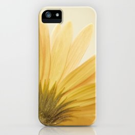 Gold Yellow Flower Photography, Golden Daisy Floral Photo, Nature Botanical Macro Picture iPhone Case