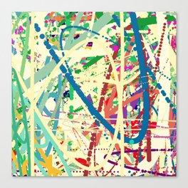 An Homage to Pollock Canvas Print