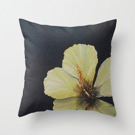 Sunlit Hibiscus Throw Pillow