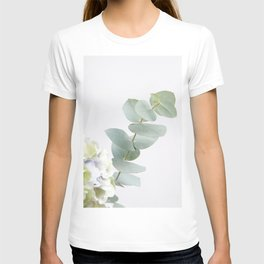 Gentle Soft Green Leaves #1 #decor #art #society6 T-shirt