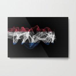 Netherlands Smoke Flag on Black Background, Netherlands flag Metal Print