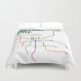Mexico City Transit Map Duvet Cover