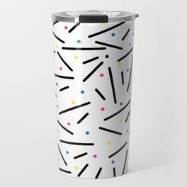 Contemporary Art Canvas Travel Mug