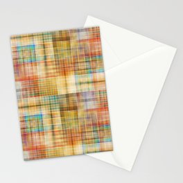 Multicolored patchwork mosaic pattern Stationery Cards
