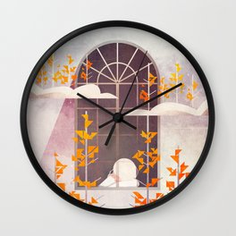 Outside The Window Wall Clock
