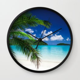 Classic Tropical Island Beach Paradise Wall Clock