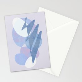 Minimal pebbles balance 1 blue and pink Stationery Cards