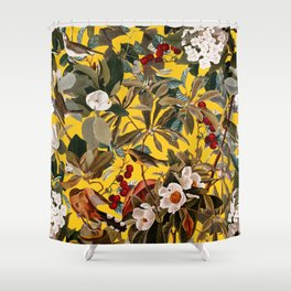 Floral and Birds XXVII-I Shower Curtain