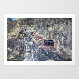 Mont Blanc Cable Car Art Print