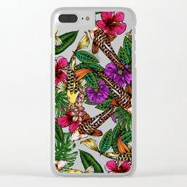 Tropical Koi Clear iPhone Case