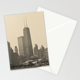 John Hancock Building Downtown Chicago Illinois Color Photo Stationery Cards
