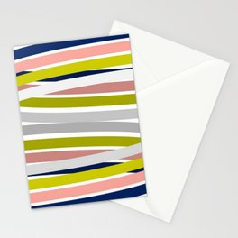 Colorful Strips Stationery Cards