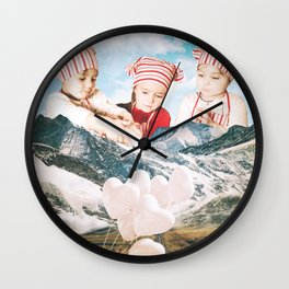 Playing With Snow Wall Clock