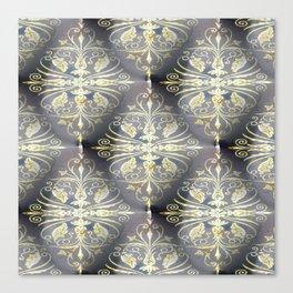 Golden Diamond Motifs Canvas Print