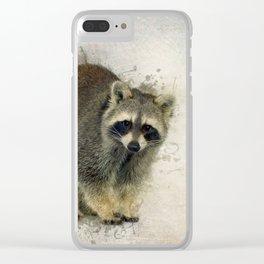 Raccoon Clear iPhone Case