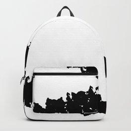 Minimalist Minimal Modern Design Black White Abstract Backpack