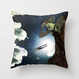 Blinded by the Lights Throw Pillow