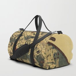 Genoese World Map (1457) Duffle Bag