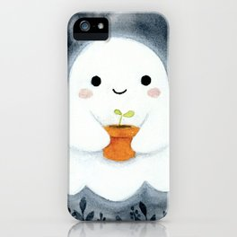 Ghost and plant iPhone Case