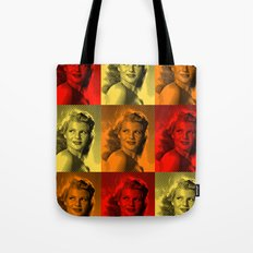 Rita Hayworth Color Tote Bag