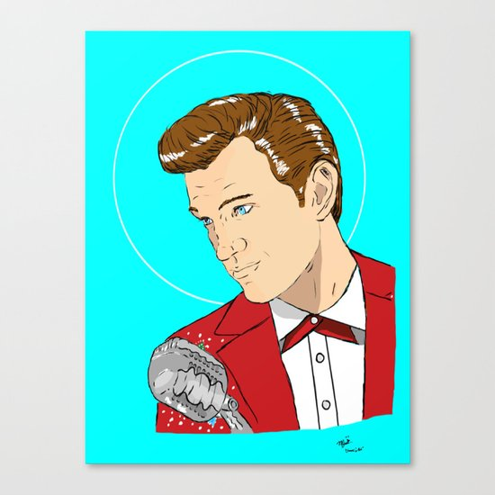 Isaak In Red Canvas Print