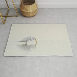 Egret Finds Himself Rug