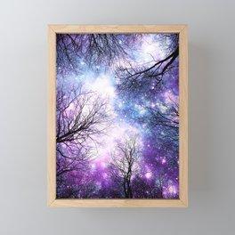 Black Trees Violet Purple Blue Space Framed Mini Art Print