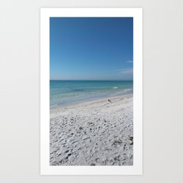 Lido Beach on Gulf of Mexico Art Print