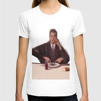 magritte T-shirts featuring Rene Magritte- self portrait by Dano77