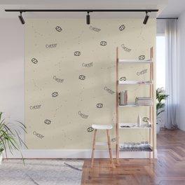 Cancer Pattern - Beige Wall Mural