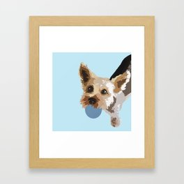 Rex in blue Framed Art Print