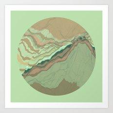 TOPOGRAPHY 001 Art Print