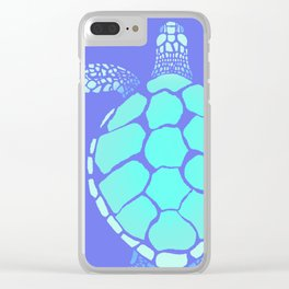 Ocean Blue Turtle Clear iPhone Case