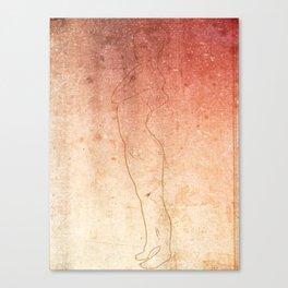 Grunge girl Canvas Print