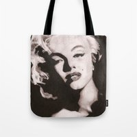 monroe Tote Bags featuring Monroe by Juliana Marie