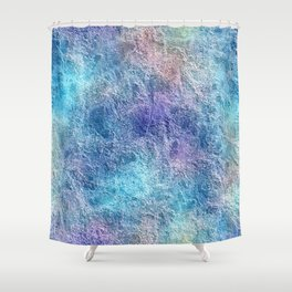 Colorful Cool Tones Blue Purple Abstract Shower Curtain