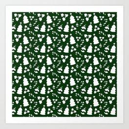 Xmas pattern II Art Print