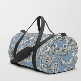 cirque fleur blue Duffle Bag