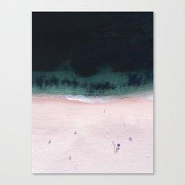 The purple umbrella Canvas Print