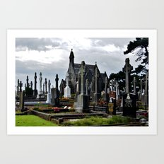 The Perfect Cemetery Day Art Print