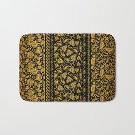 Gold black pattern Bath Mat