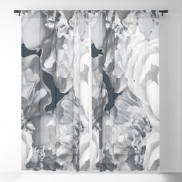 Elegant Peony Bouquet Gray Monochrome #decor #society6 #buyart Blackout Curtain